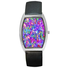 Abstract Trippy Bright Sky Space Barrel Style Metal Watch by Simbadda