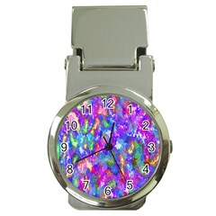 Abstract Trippy Bright Sky Space Money Clip Watches by Simbadda