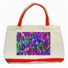 Abstract Trippy Bright Sky Space Classic Tote Bag (red) by Simbadda