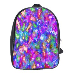 Abstract Trippy Bright Sky Space School Bags (xl)  by Simbadda