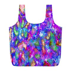 Abstract Trippy Bright Sky Space Full Print Recycle Bags (l)  by Simbadda