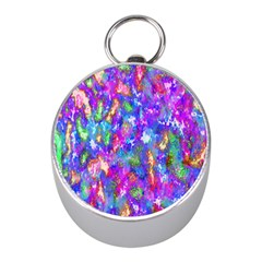 Abstract Trippy Bright Sky Space Mini Silver Compasses by Simbadda