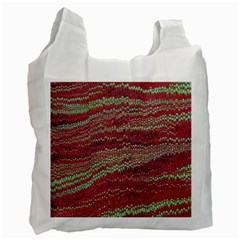 Scaly Pattern Colour Green Pink Recycle Bag (one Side) by Alisyart