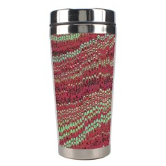 Scaly Pattern Colour Green Pink Stainless Steel Travel Tumblers by Alisyart