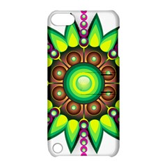 Design Elements Star Flower Floral Circle Apple Ipod Touch 5 Hardshell Case With Stand by Alisyart