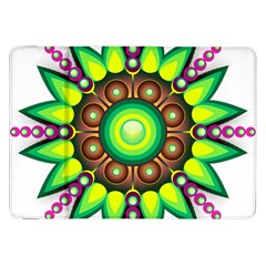 Design Elements Star Flower Floral Circle Samsung Galaxy Tab 8 9  P7300 Flip Case by Alisyart