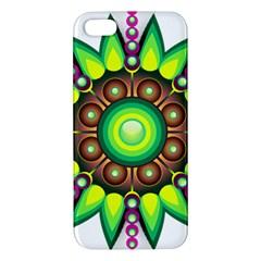 Design Elements Star Flower Floral Circle Iphone 5s/ Se Premium Hardshell Case by Alisyart