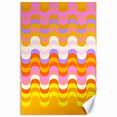 Dna Early Childhood Wave Chevron Rainbow Color Canvas 24  X 36  by Alisyart