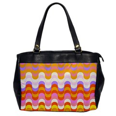 Dna Early Childhood Wave Chevron Rainbow Color Office Handbags by Alisyart