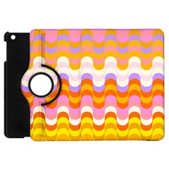 Dna Early Childhood Wave Chevron Rainbow Color Apple Ipad Mini Flip 360 Case by Alisyart
