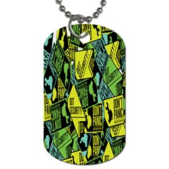 Don t Panic Digital Security Helpline Access Dog Tag (two Sides) by Alisyart