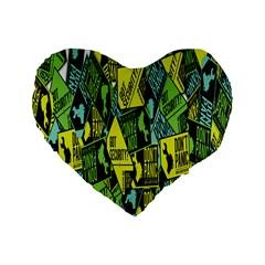 Don t Panic Digital Security Helpline Access Standard 16  Premium Heart Shape Cushions by Alisyart