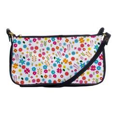 Floral Pattern Shoulder Clutch Bags by Valentinaart