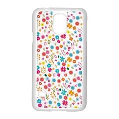 Floral Pattern Samsung Galaxy S5 Case (white) by Valentinaart