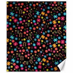 Floral Pattern Canvas 20  X 24   by Valentinaart