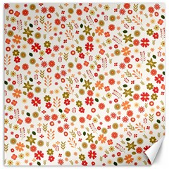 Floral Pattern Canvas 12  X 12   by Valentinaart