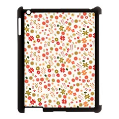 Floral Pattern Apple Ipad 3/4 Case (black) by Valentinaart