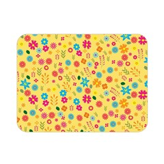 Floral Pattern Double Sided Flano Blanket (mini)  by Valentinaart