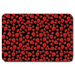Strawberry  Pattern Large Doormat  by Valentinaart