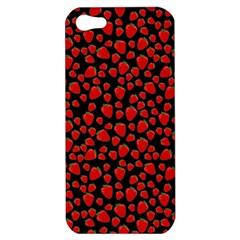 Strawberry  Pattern Apple Iphone 5 Hardshell Case by Valentinaart