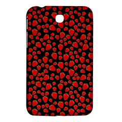 Strawberry  Pattern Samsung Galaxy Tab 3 (7 ) P3200 Hardshell Case  by Valentinaart