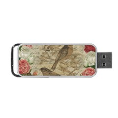 Vintage Birds Portable Usb Flash (two Sides) by Valentinaart