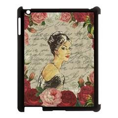 Vintage Girl Apple Ipad 3/4 Case (black) by Valentinaart