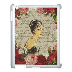 Vintage Girl Apple Ipad 3/4 Case (white) by Valentinaart