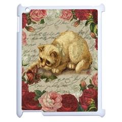 Vintage Kitten  Apple Ipad 2 Case (white) by Valentinaart