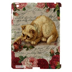 Vintage Kitten  Apple Ipad 3/4 Hardshell Case (compatible With Smart Cover) by Valentinaart