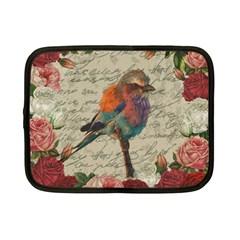 Vintage Bird Netbook Case (small)  by Valentinaart