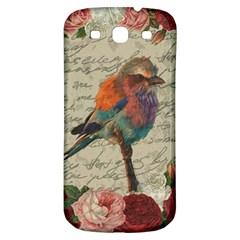 Vintage Bird Samsung Galaxy S3 S Iii Classic Hardshell Back Case by Valentinaart