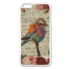 Vintage Bird Apple Iphone 6 Plus/6s Plus Enamel White Case by Valentinaart