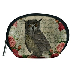 Vintage Owl Accessory Pouches (medium)  by Valentinaart