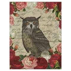Vintage Owl Drawstring Bag (large) by Valentinaart
