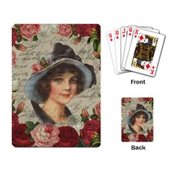 Vintage Girl Playing Card by Valentinaart