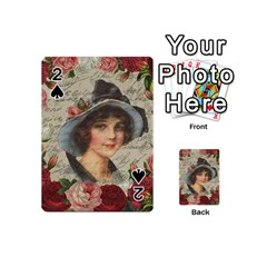Vintage Girl Playing Cards 54 (mini)  by Valentinaart