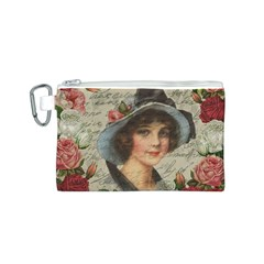 Vintage Girl Canvas Cosmetic Bag (s) by Valentinaart