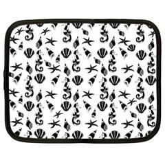 Seahorse Pattern Netbook Case (large) by Valentinaart