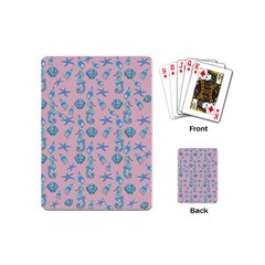Seahorse Pattern Playing Cards (mini)  by Valentinaart