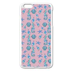 Seahorse Pattern Apple Iphone 6 Plus/6s Plus Enamel White Case by Valentinaart