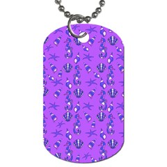 Seahorse Pattern Dog Tag (two Sides) by Valentinaart