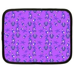 Seahorse Pattern Netbook Case (xxl)  by Valentinaart