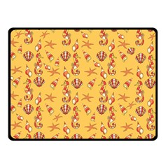 Seahorse Pattern Double Sided Fleece Blanket (small)  by Valentinaart