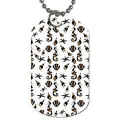 Seahorse Pattern Dog Tag (one Side) by Valentinaart