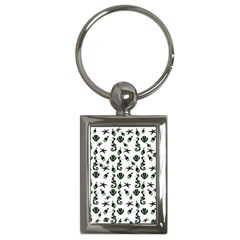 Seahorse Pattern Key Chains (rectangle)  by Valentinaart