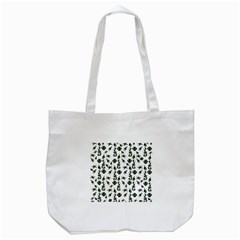 Seahorse Pattern Tote Bag (white) by Valentinaart