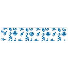 Seahorse Pattern Flano Scarf (small) by Valentinaart