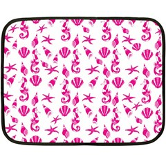 Seahorse Pattern Fleece Blanket (mini) by Valentinaart