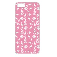 Seahorse Pattern Apple Iphone 5 Seamless Case (white) by Valentinaart